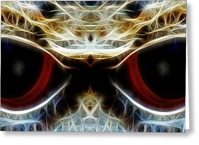 Colored Eyes Greeting Card by Ben Yassa