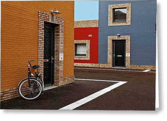 Colored Facades Greeting Card