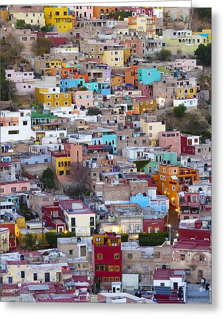 Colored Homes Greeting Card by Douglas J Fisher