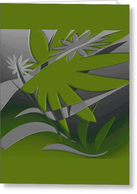 Colored Jungle Green Greeting Card