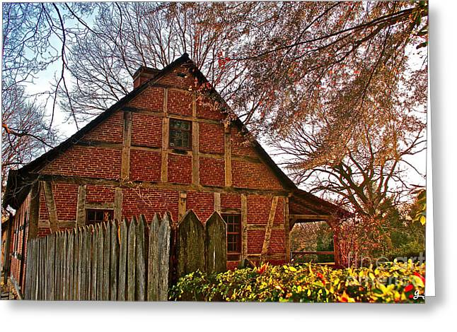 Greeting Card featuring the photograph Colored Late Fall by Geri Glavis