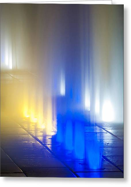 Colored Lights Greeting Card by Andy Crawford