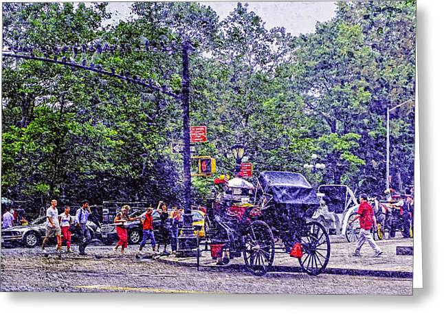Colored Memories - Central Park Greeting Card by Madeline Ellis