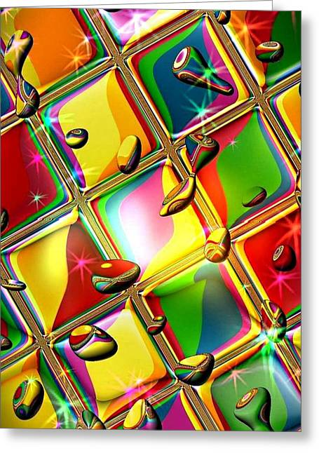 Colored Mirror By Nico Bielow Greeting Card by Nico Bielow