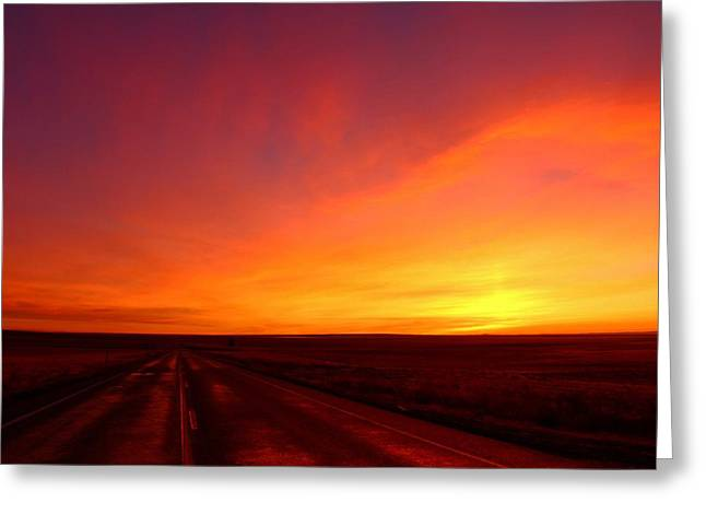 Greeting Card featuring the photograph Colored Morning by Lynn Hopwood