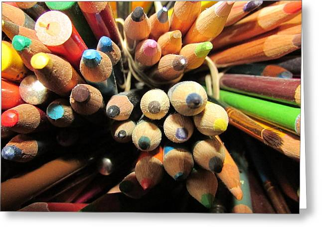 Colored Pencils Greeting Card by Jaime Neo