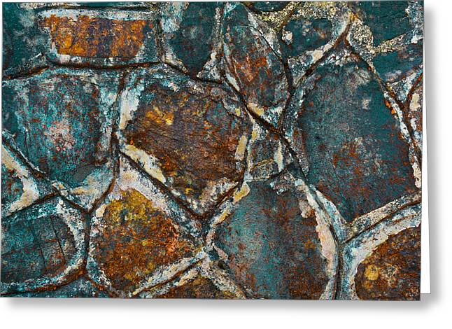 Colored Rock Wall Greeting Card by Chelsea Stockton