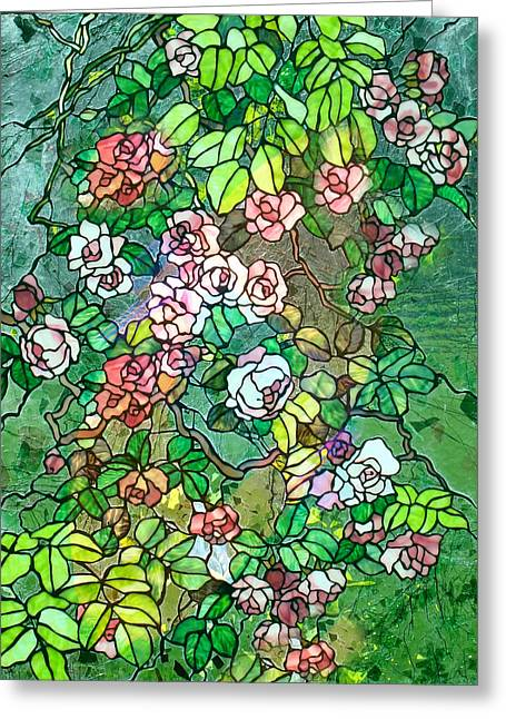 Colored Rose Garden Greeting Card