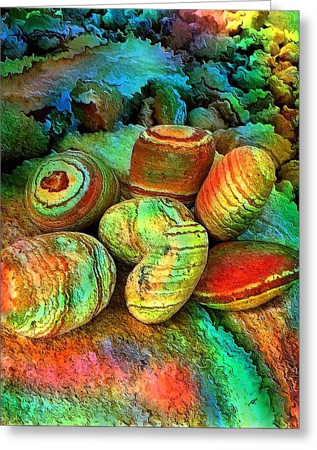 Colored Stones By Rafi Talby   Greeting Card by Rafi Talby