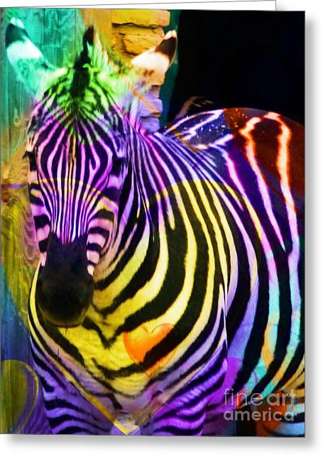 Colored Stripes Greeting Card by Kathleen Struckle