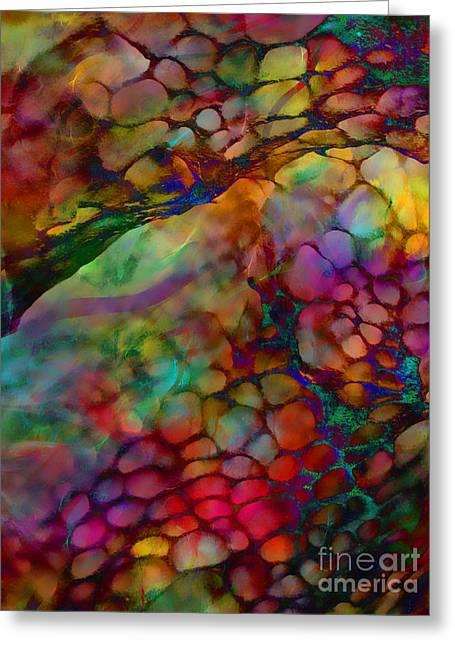 Colored Tafoni Greeting Card by Klara Acel