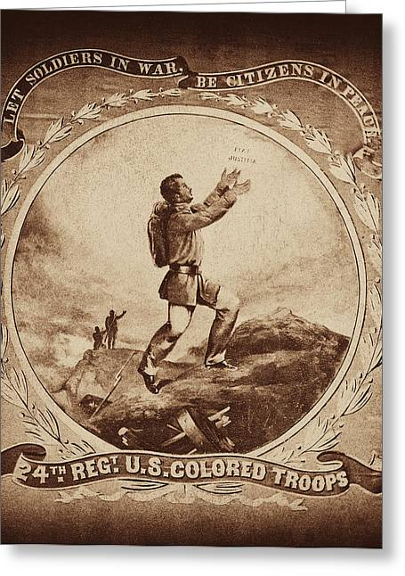 Colored Troop Recruiting Greeting Card by Paul W Faust -  Impressions of Light