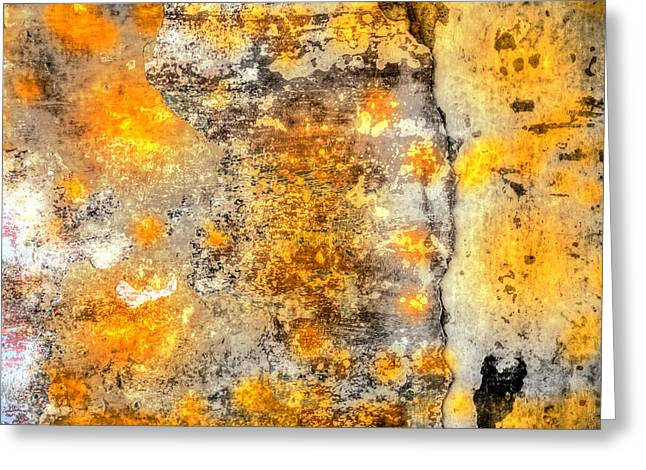 Colored Weathered Wall Greeting Card by Martin Joyful