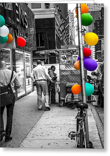 Colored With Balloons Greeting Card by Karol Livote