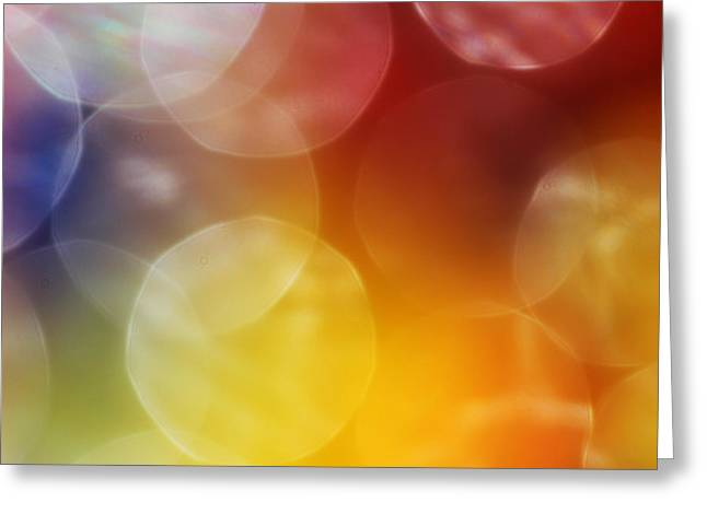 Colorful Abstract 7 Greeting Card by Mary Bedy