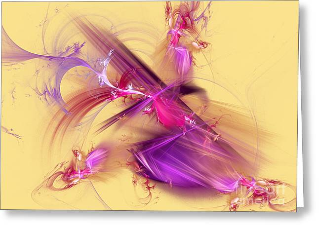 Colorful Abstract Background  Greeting Card by Odon Czintos