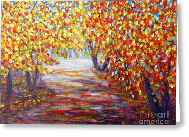 Colorful Autumn Greeting Card