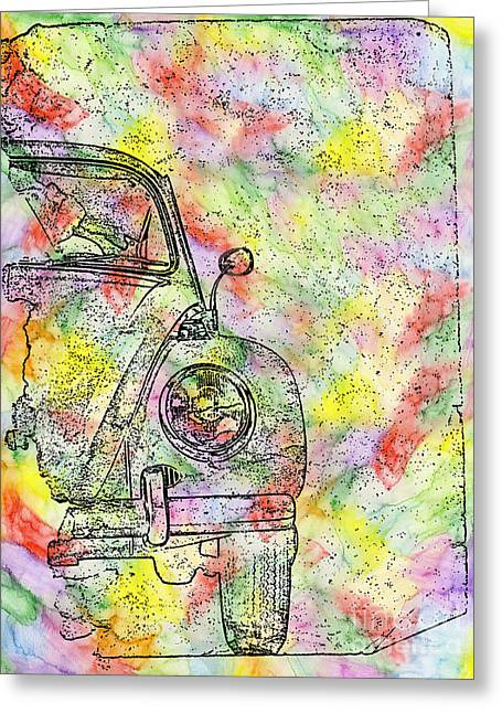 Colorful Beetle Greeting Card