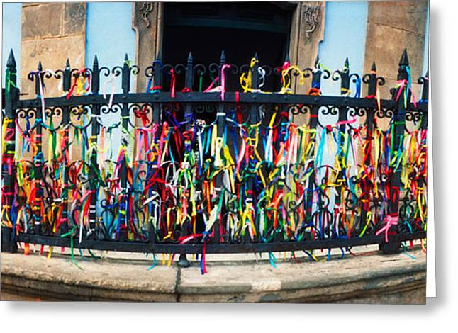 Colorful Bonfim Wish Ribbons Tied Greeting Card by Panoramic Images