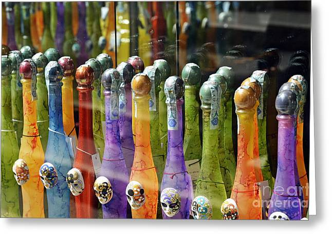 Colorful Bottles Of Limoncello Greeting Card by Sami Sarkis