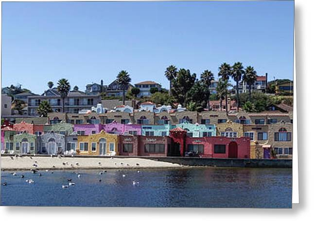 Colorful Buildings And Beach Greeting Card by Panoramic Images