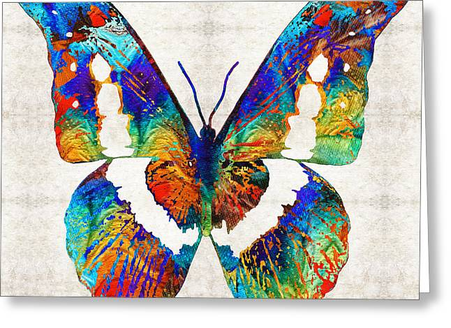 Colorful Butterfly Art By Sharon Cummings Greeting Card