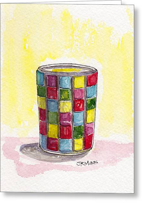 Colorful Candleholder Greeting Card