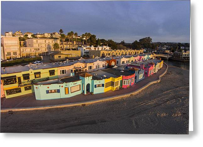 Colorful Capitola Greeting Card by David Levy