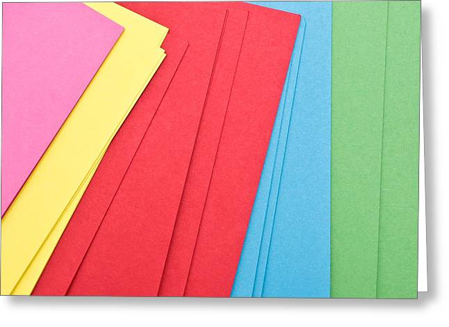 Colorful Cards Greeting Card by Tom Gowanlock