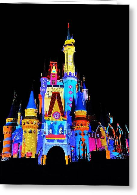 Colorful Castle Greeting Card by Benjamin Yeager