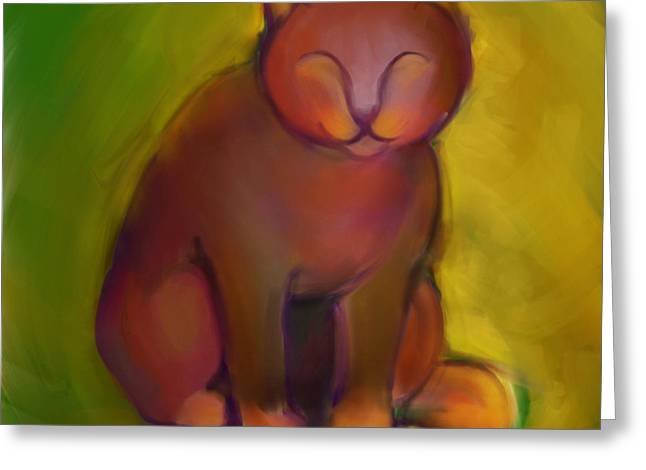 Colorful Cat 2 Greeting Card by Anna Gora