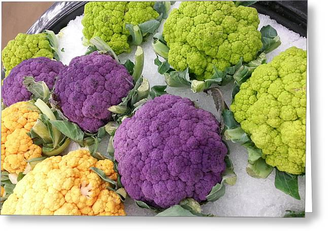 Greeting Card featuring the photograph Colorful Cauliflower by Caryl J Bohn