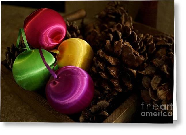 Colorful Christmas Balls Greeting Card