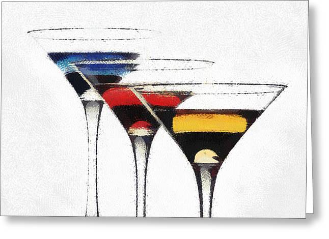 Colorful Cocktails Greeting Card