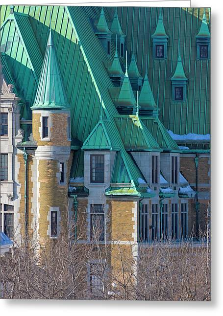 Colorful Colonial Building, Quebec City Greeting Card