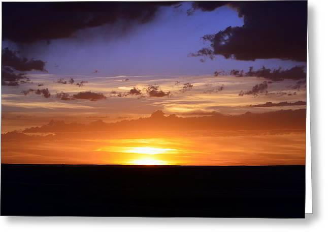 Colorful Colorado Sunset Greeting Card by Clarice  Lakota