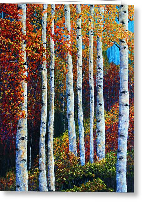 Colorful Colordo Aspens Greeting Card
