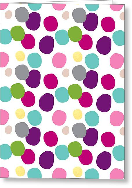 Colorful Confetti 2 Greeting Card by Linda Woods