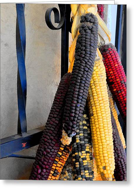 Colorful Corn I Greeting Card by Jan Amiss Photography
