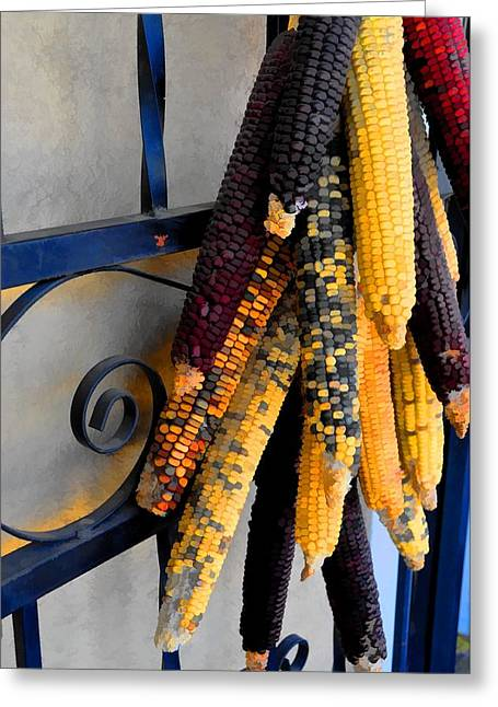 Colorful Corn II Greeting Card by Jan Amiss Photography