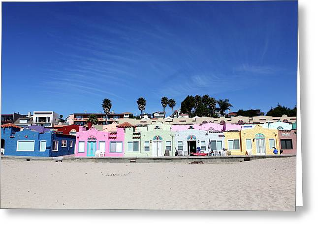 Colorful Cottage On The Beach Greeting Card