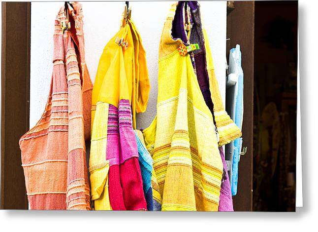 Colorful Cotton Bags Greeting Card