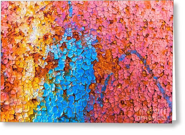 Colorful Cracks Greeting Card