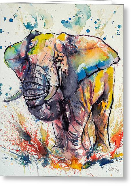 Colorful Elephant Greeting Card