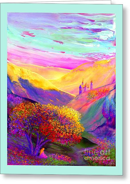 Colorful Enchantment Greeting Card by Jane Small