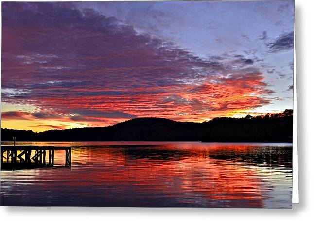 Colorful Evening Greeting Card by Susan Leggett