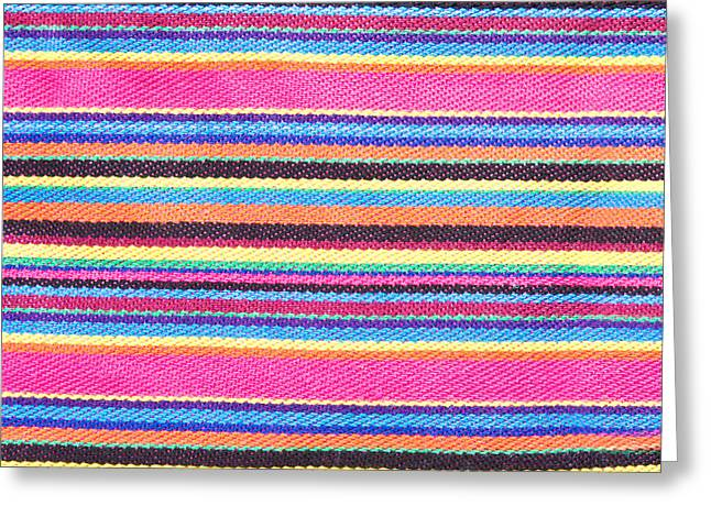 Colorful Fabric Greeting Card by Tom Gowanlock