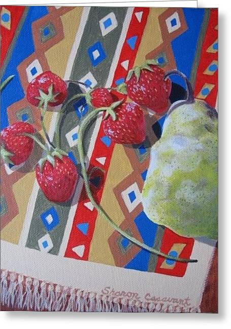 Colorful Fruit Greeting Card