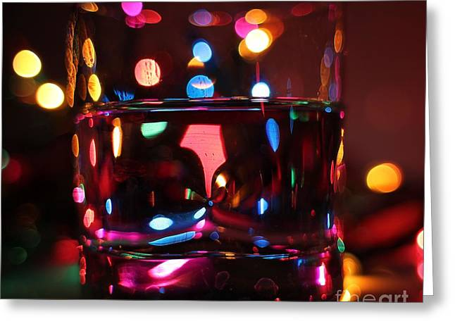 Colorful Glass Bokeh Greeting Card