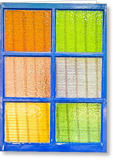 Colorful Glass Greeting Card by Tom Gowanlock